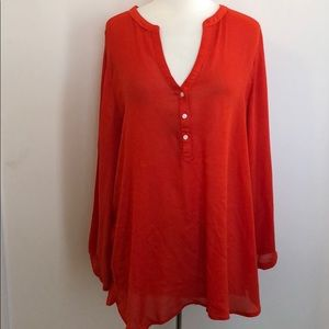 Orange Tunic Top